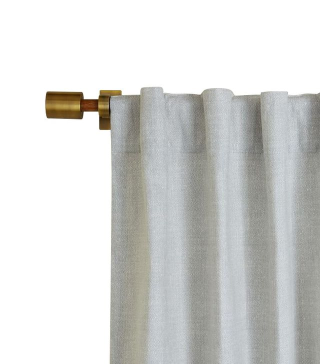 West Elm Cotton Canvas Chambray Print Curtain