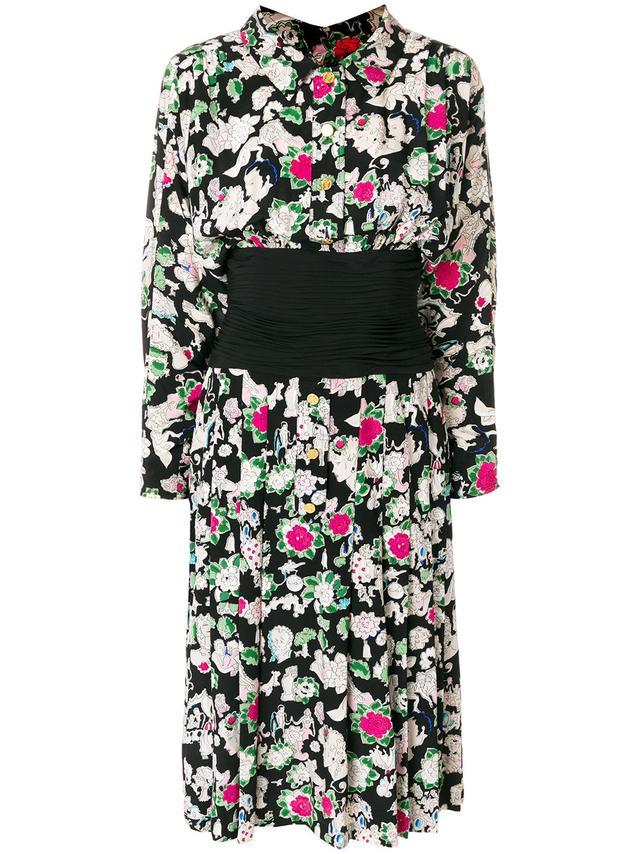 Chanel Vintage Print Dress