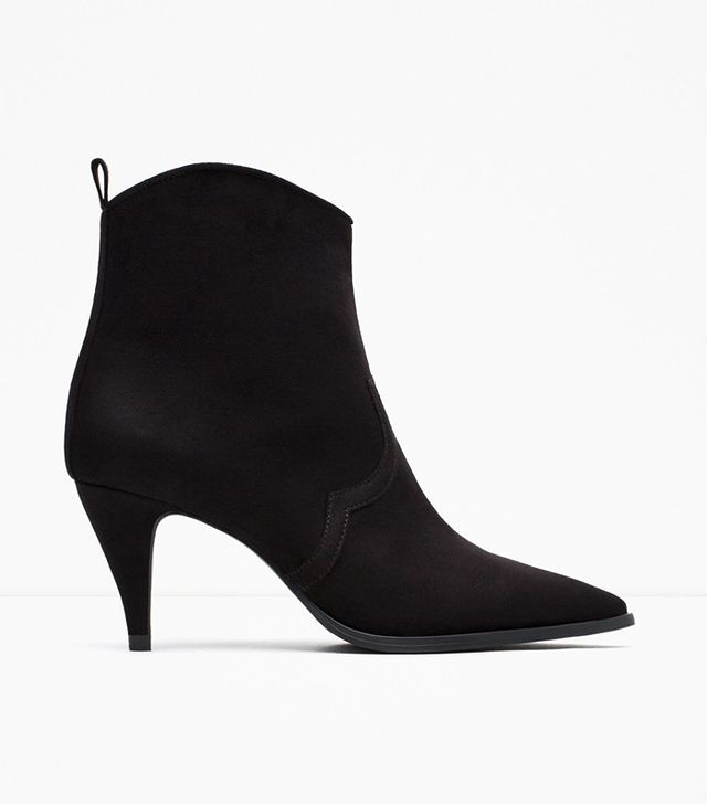 Zara High Heel Pointed Ankle Boots