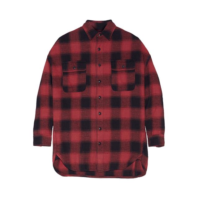 R13 X-Oversized Plaid Cotton-Flannel Shirt
