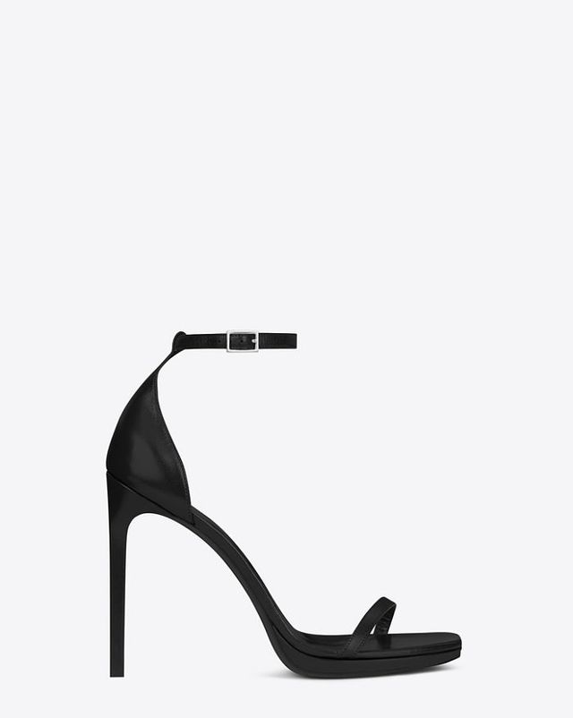 Saint Laurent Jane Leather Sandals in Black