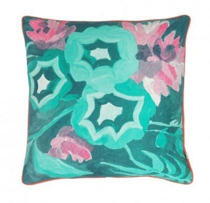 Bonnie and Neil Botanical Green Cushion
