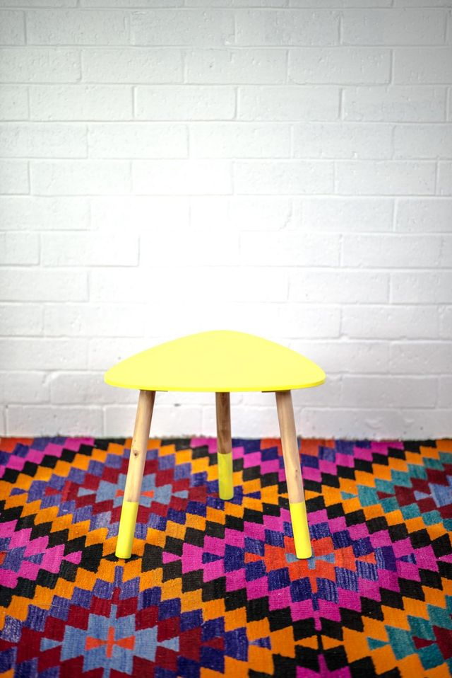 Milly + Eugene Small Yellow Triangle Table
