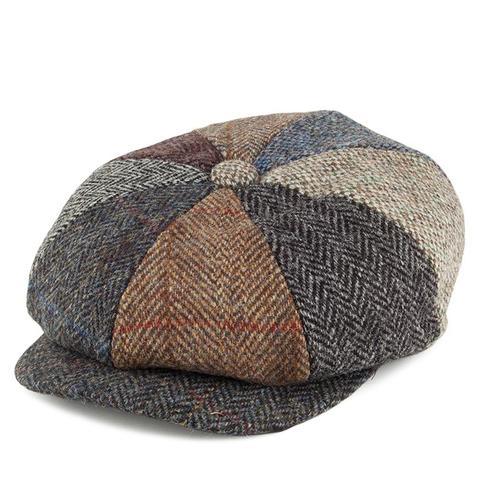 Harris Tweed Lewis Newsboy Cap