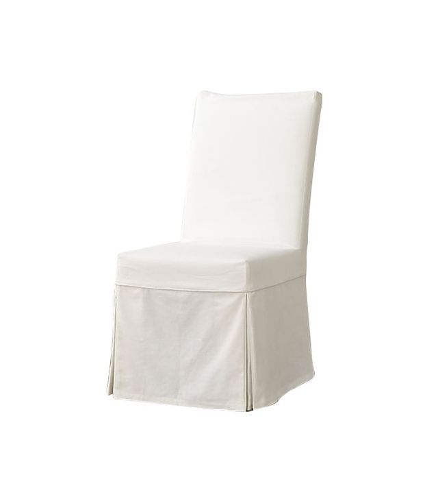 Crate & Barrel White Slipcovered Dining Chair