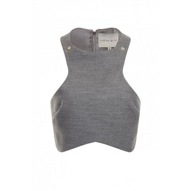 Lavish Alice Grey Crop Top