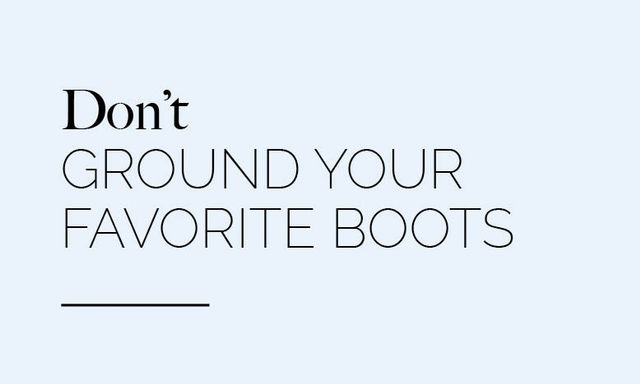 """""""Boots and booties are key for winter weather. While traditional snow boots are great you will be surprised how well many of your flat boots and booties also work in the weather with warmer..."""