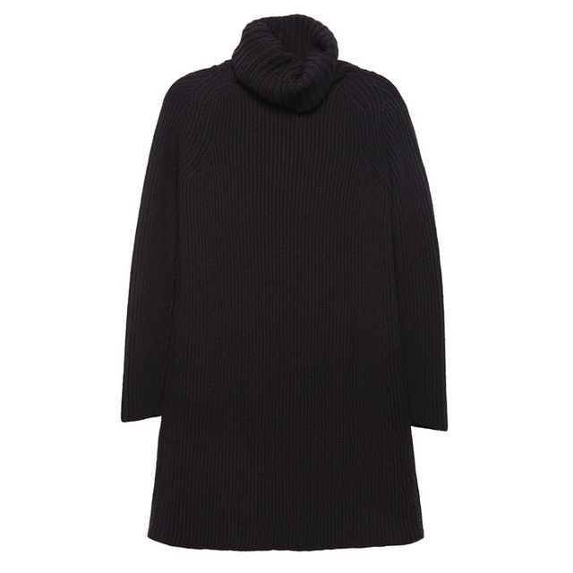 AG The Carter Turtleneck Dress in Dark Black