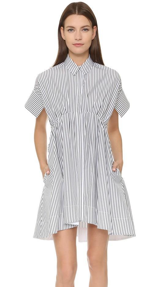 Victoria Victoria Beckham Kick Sleeve Shirtdress