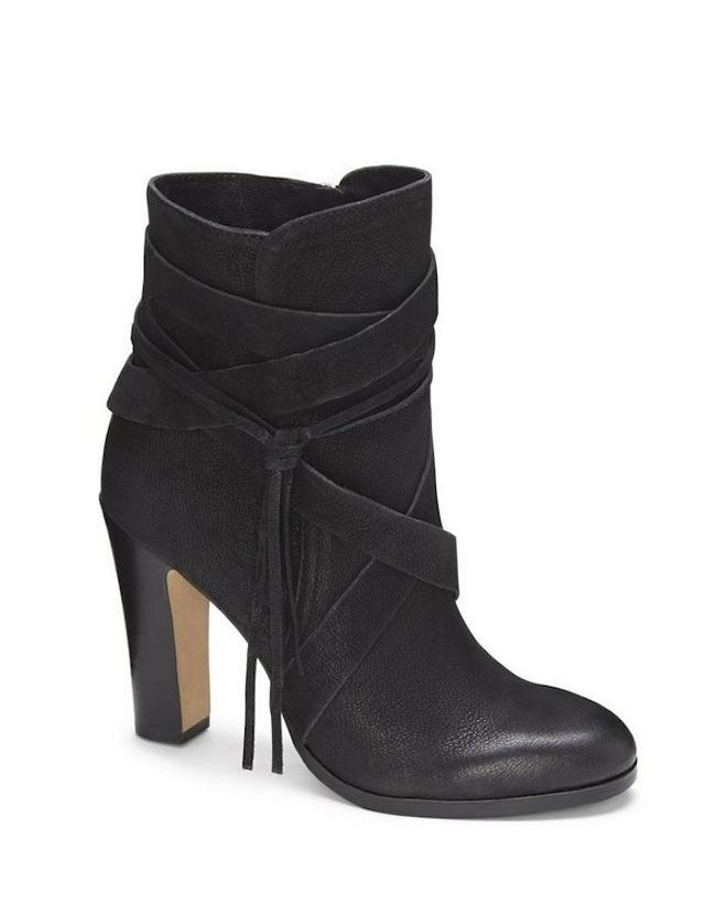 Vince Camuto Charisa Wrap Stacked Heel Bootie