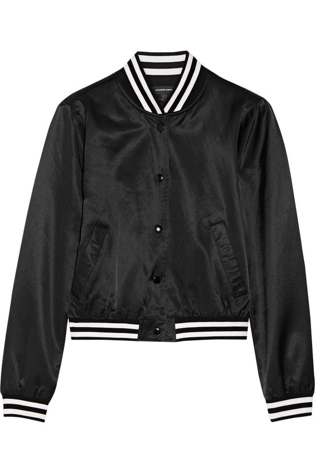 R13 Embroidered Satin Bomber Jacket