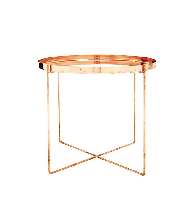 Tray Très Bon Copper Side Table
