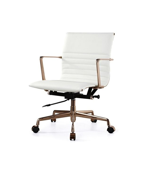Meelano M346 Office Chair in Italian Leather