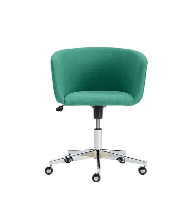 CB2 Coupe Teal Office Chair
