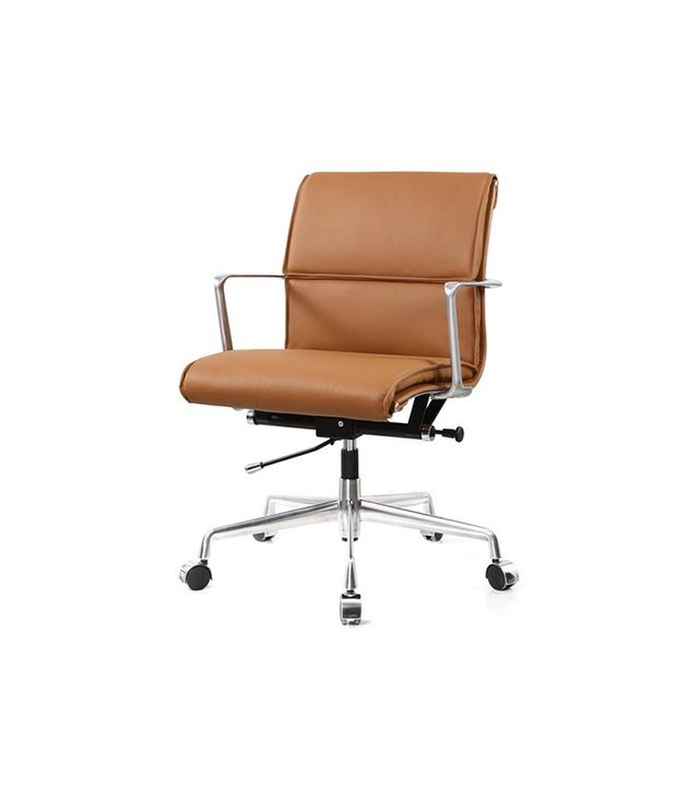 Meelano M347 Office Chair in Italian Leather