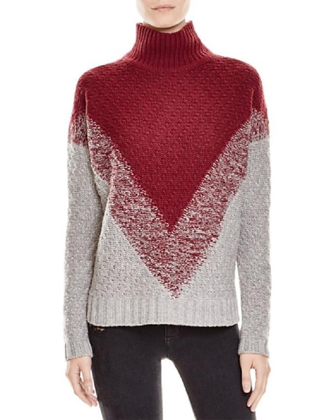 The Lane Chevron Turtleneck Sweater