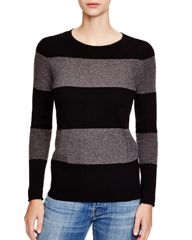 C by Bloomingdale's Striped Cashmere Sweater