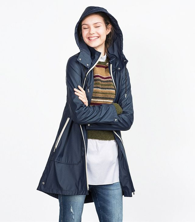 Zara Navy Raincoat
