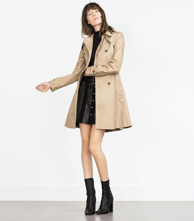 Zara Peplum Trench Coat