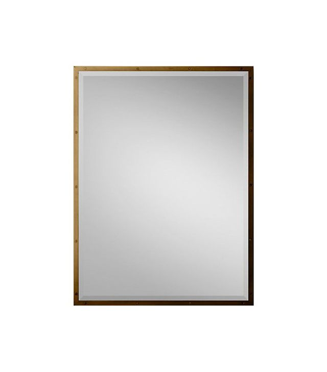 Restoration Hardware Bistro Antiqued Brass Mirror