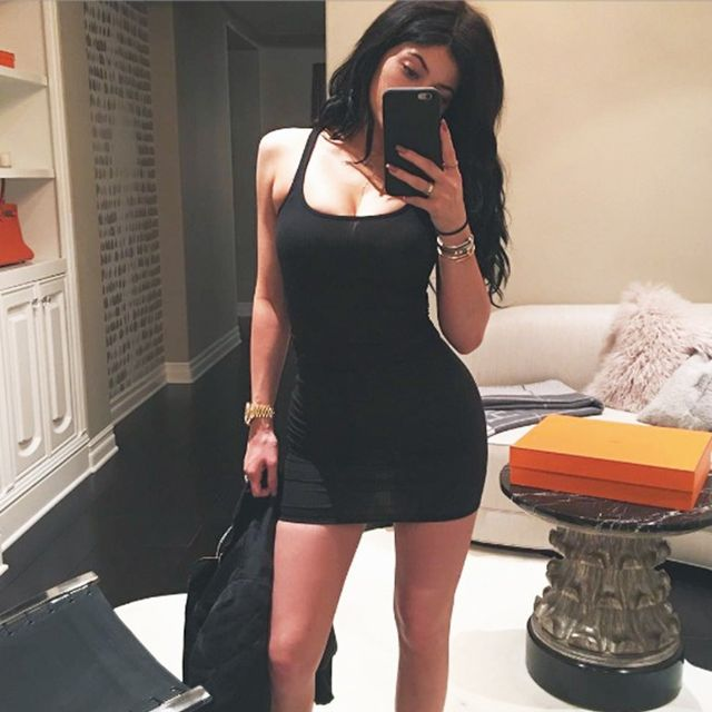 The Surprising Shoes Kylie Jenner Paired With Her Little Black Dress