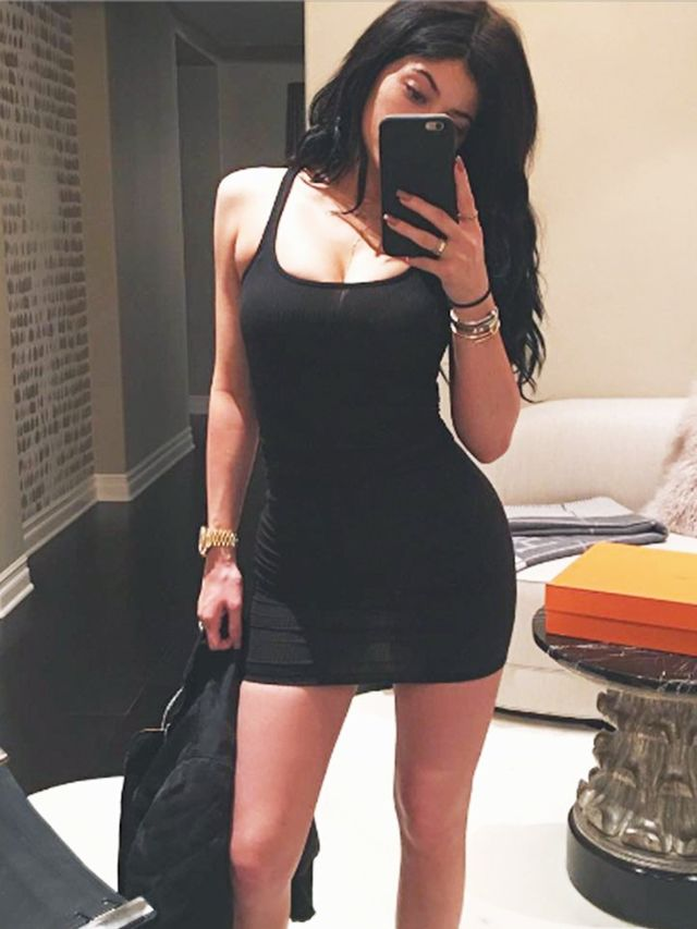 The Surprising Shoes Kylie Jenner Paired With Her Little Black Dress | WhoWhatWear