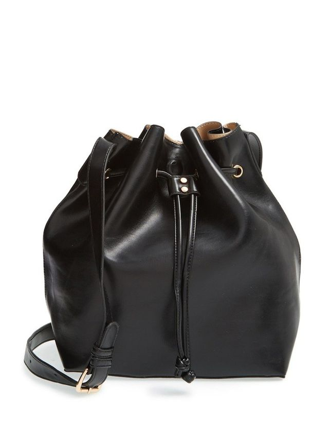 Sole Society Nevin Faux Leather Drawstring Bucket Bag