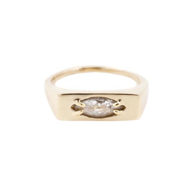 Lauren Wolf Diamond Signet Ring