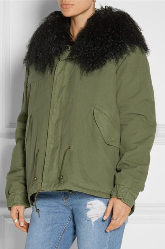 Mr and Mrs Italy Shearling-Trimmed Cotton-Canvas Parka