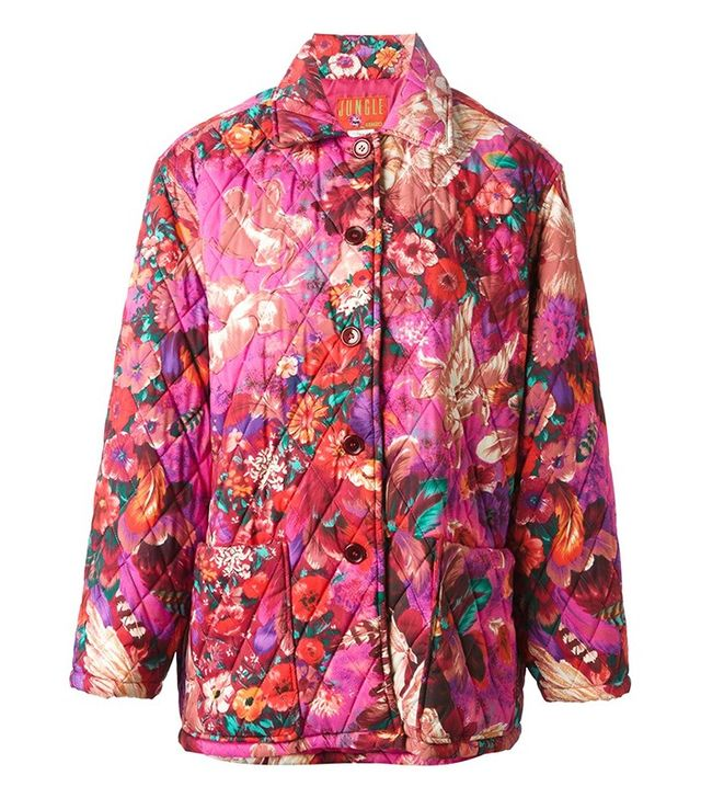 Kenzo Vintage Pegas Print Quilted Coat