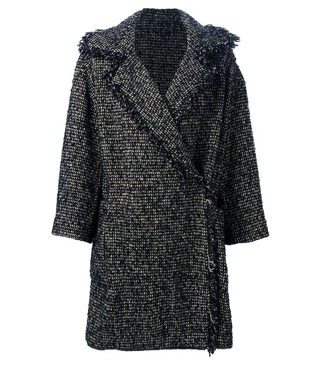 Etro Fringed Tweed Coat