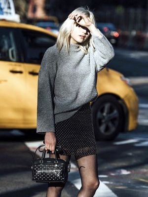 A Downtown-Cool Way to Wear a Miniskirt for Winter
