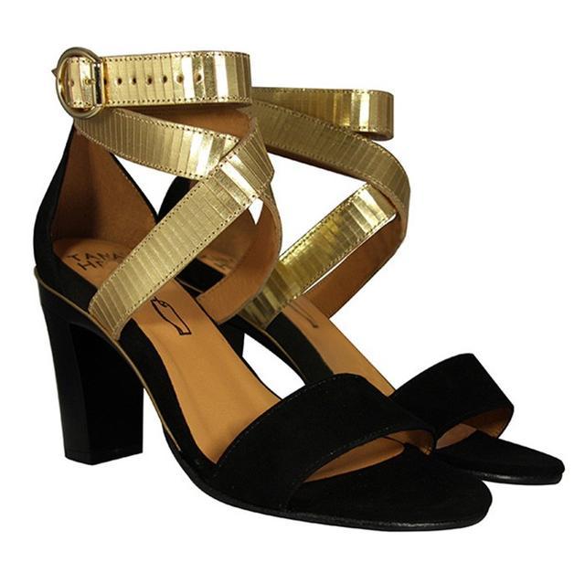 Tanya Heath Paris Dominy Black Velvet Gold