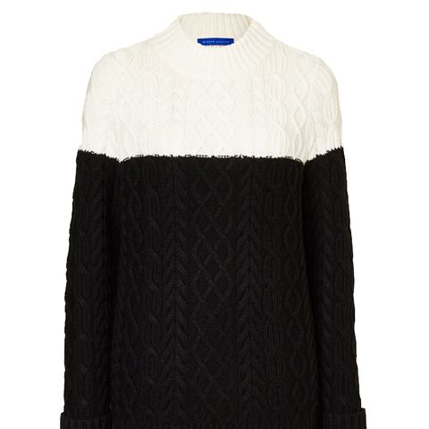 Wool Cashmere Aran Jumper