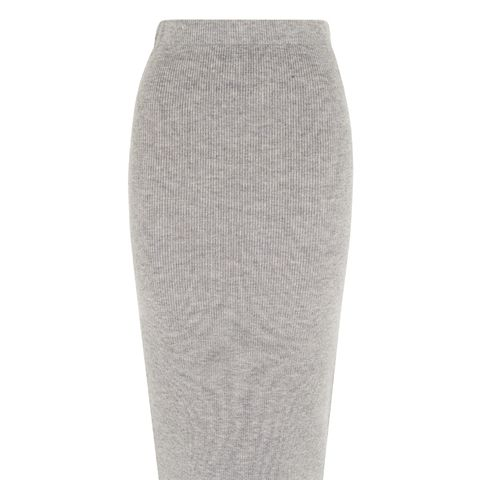 Cashmere Mix Knitted Skirt