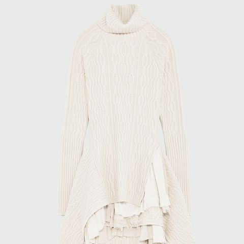 Combined Cashmere Dress