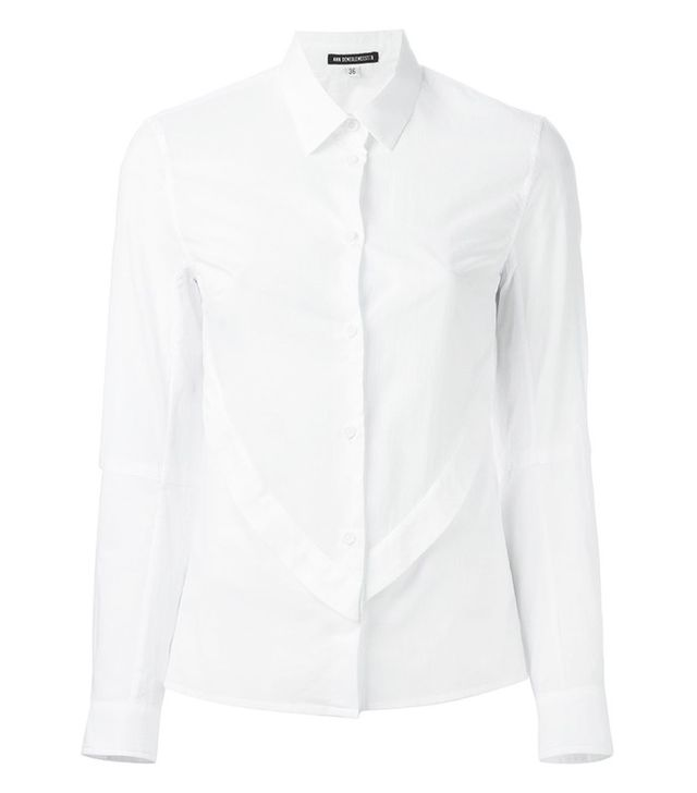 Ann Demeulemeester Pleated Front Detail Shirt