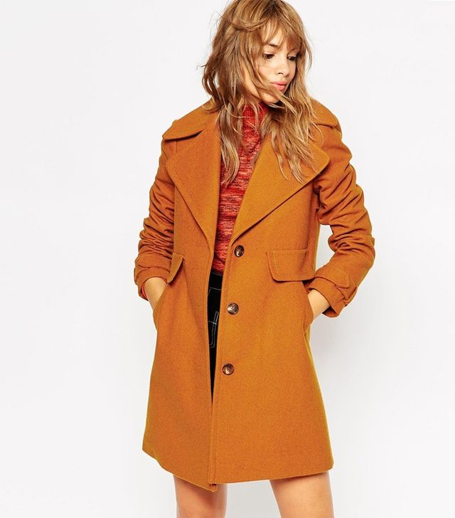 ASOS Coat With 70s Collar
