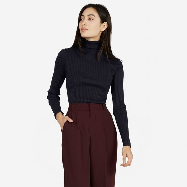 Everlane The Wool Ribbed Turtleneck