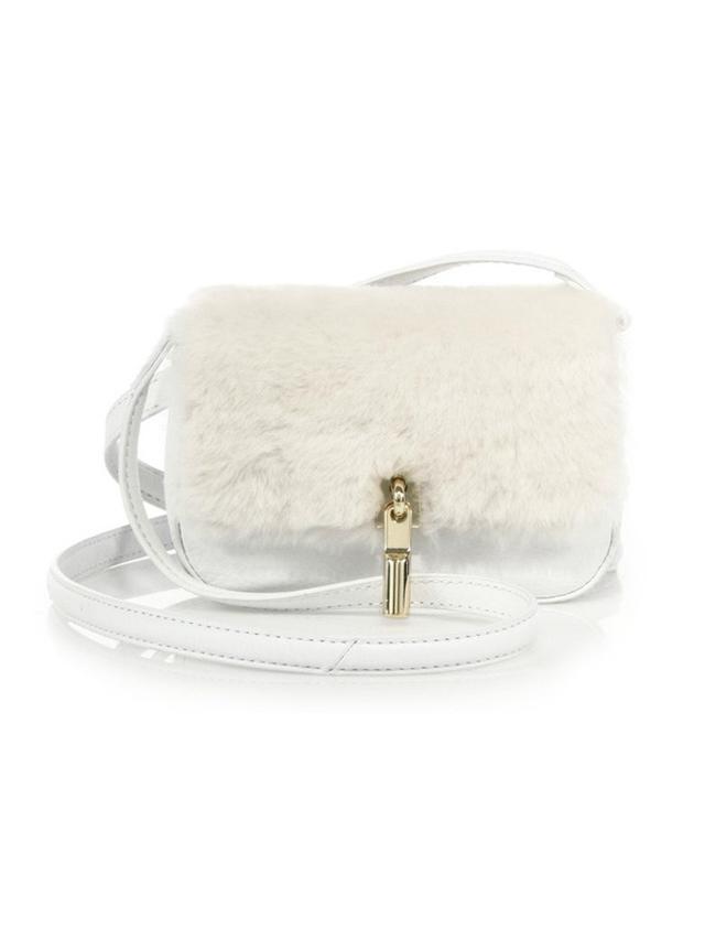 Elizabeth & James Cynnie Nano Shearling & Leather Crossbody Bag