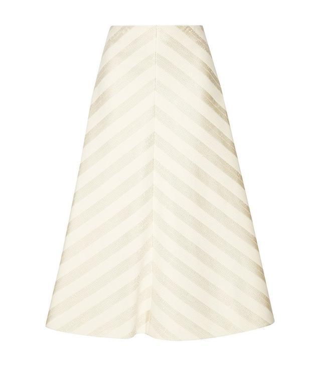 Delpozo Cotton-Blend Jacquard Midi Skirt
