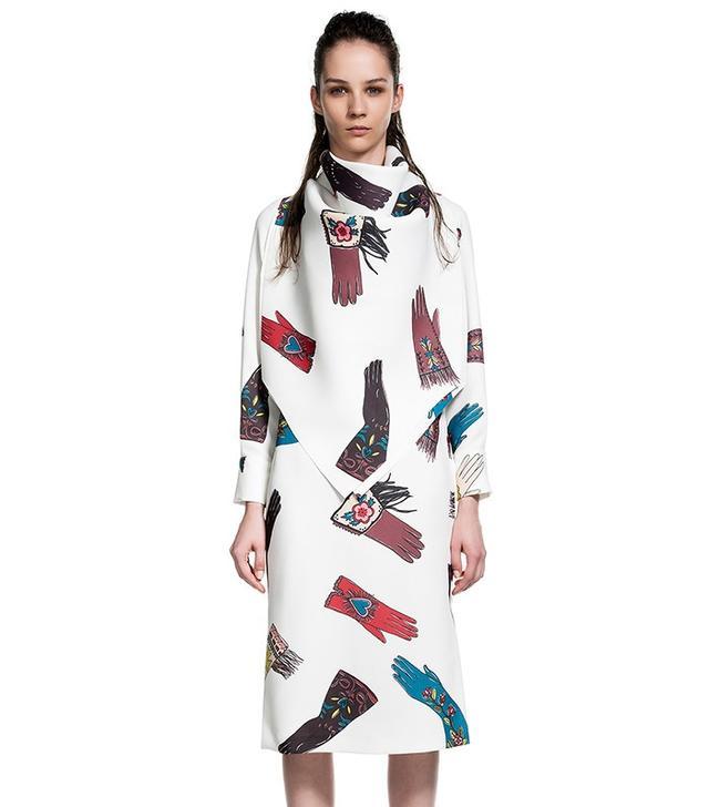 Bimba y Lola Straight Fit Print Dress