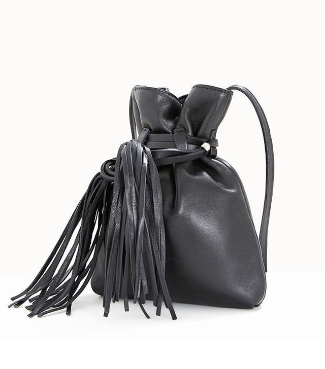 Adolfo Dominguez Leather Bucket Bag