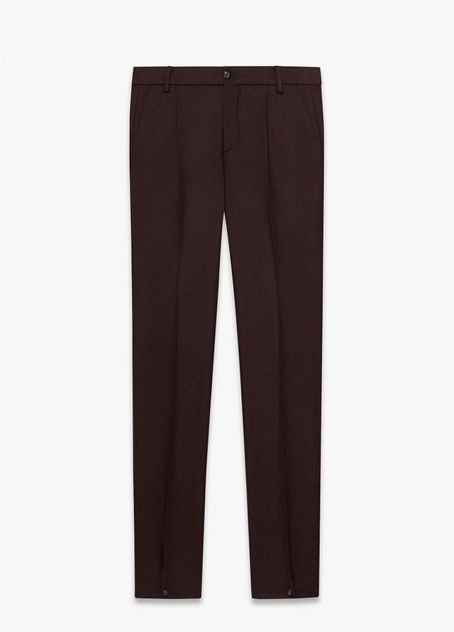 Melindagloss Burgundy Buttoned Pleated Pants