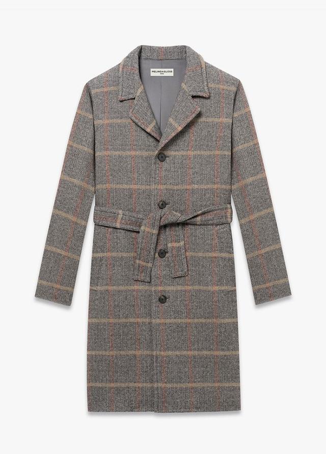 Melindagloss Grey Overcoat