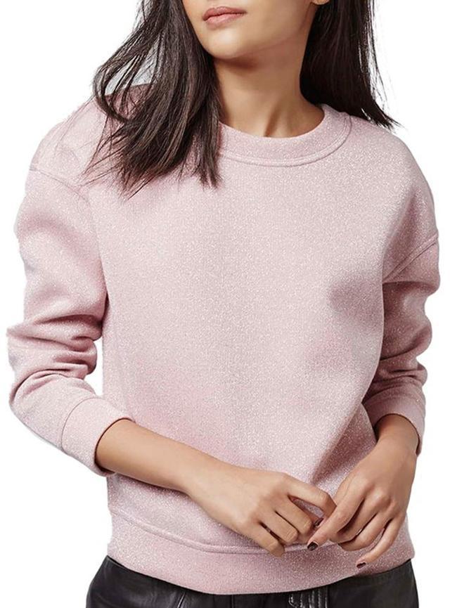 Topshop Glitter Sweatshirt