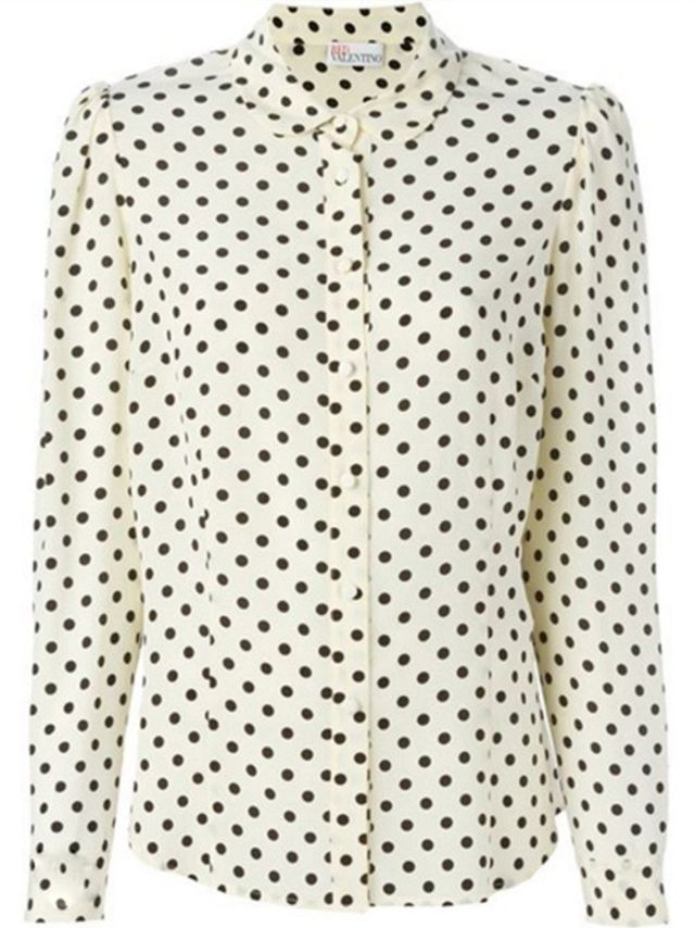 Red Valentino Polka Dot Shirt