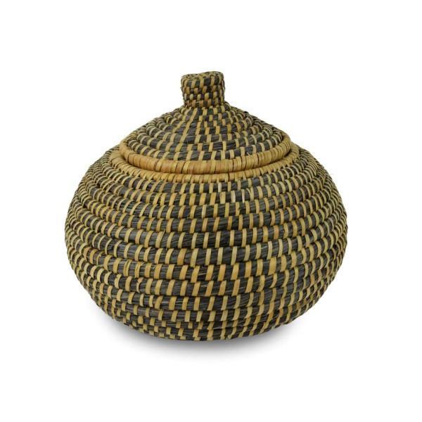 Oxfam Holga Fibre and Palm Leaf Basket with Lid