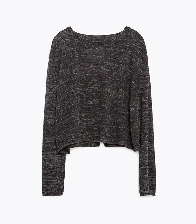 Zara Cropped Flecked Sweater
