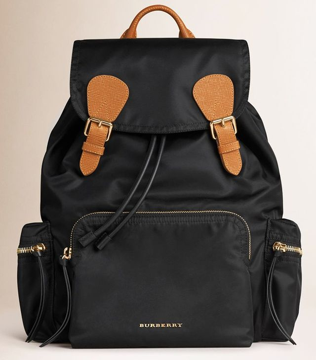 Burberry The Rucksack in Technical Nylon and Leather